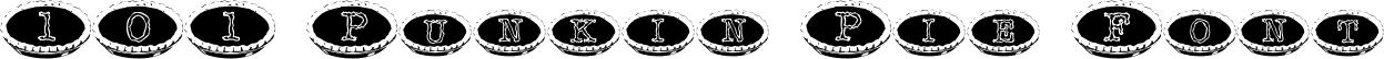 101 Punkin Pie Font