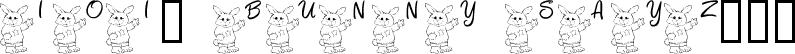 101! Bunny SayZ...
