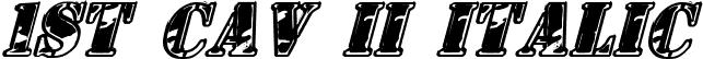 1st Cav II Italic