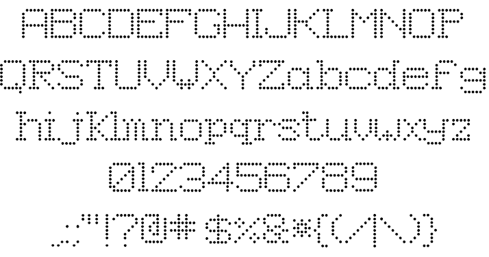 8pin Matrix Font Free For Personal