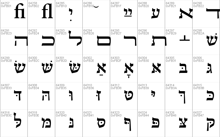Adobe Hebrew font - free for Personal