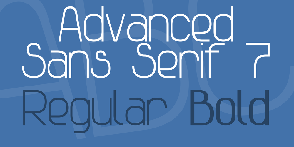 Advanced Sans Serif 7