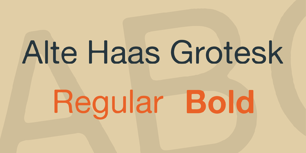 Alte Haas Grotesk font - free for Personal   Commercial