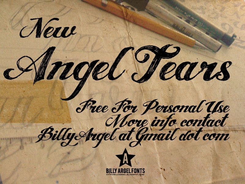 Free angel tears font download infos, ttf preview & charmap.