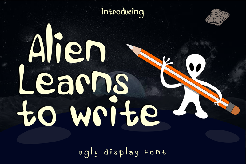 Alien Learns To Write