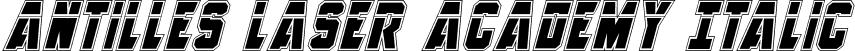 Antilles Laser Academy Italic