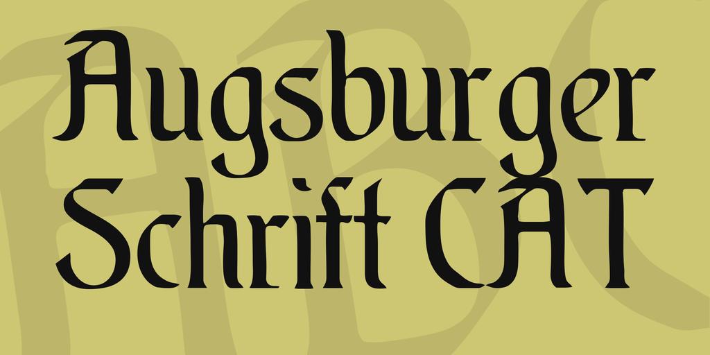 Augsburger Schrift CAT