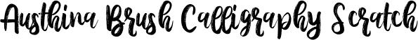 Austhina Brush Calligraphy Scratch