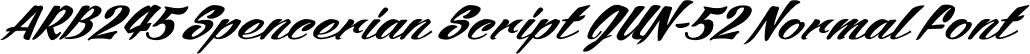 ARB245 Spencerian Script JUN-52 Normal Font