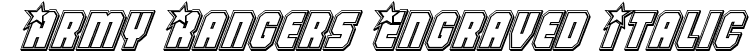 Army Rangers Engraved Italic
