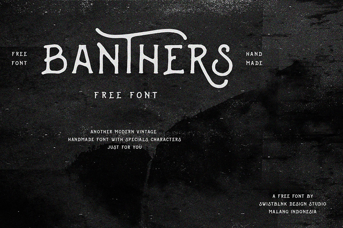 Swistblnk Banthers font - free for Personal