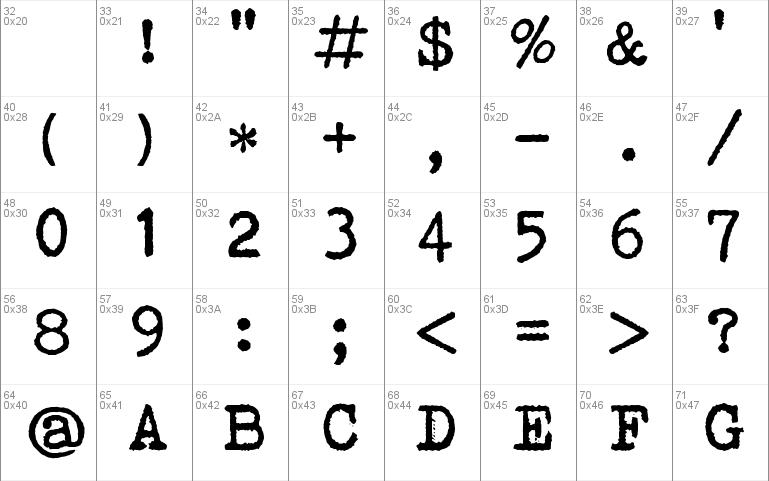 Bohemian typewriter Font font - free for Personal