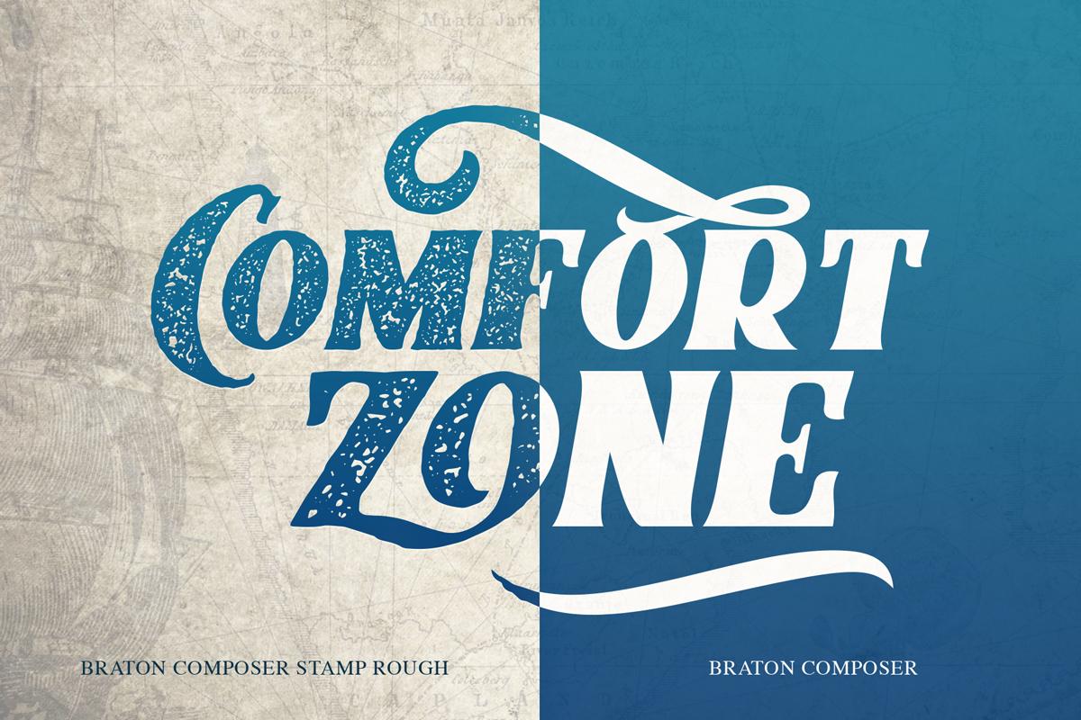 Braton Composer Stamp Rough