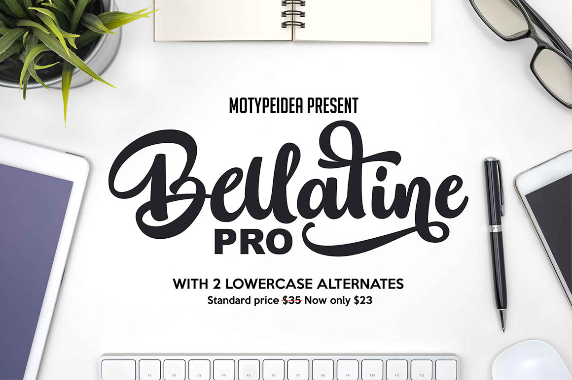 Bellatine Pro TRIAL Windows font - free for Personal