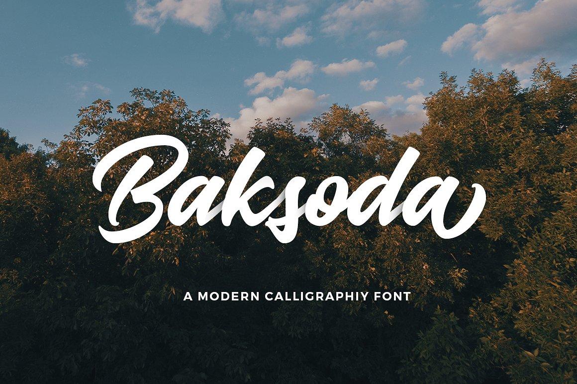 Baksoda Windows font - free for Personal