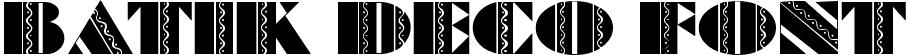 Batik Deco Font