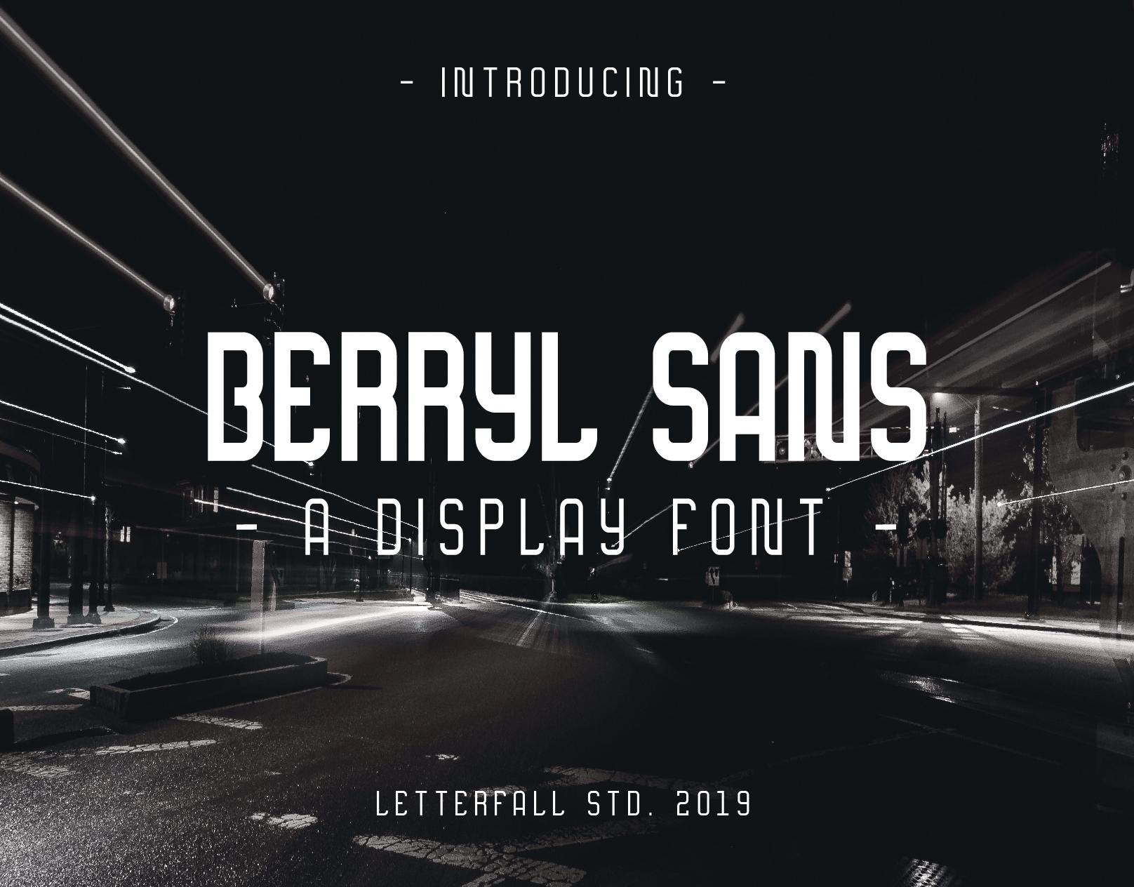 Berryl Sans DEMO font