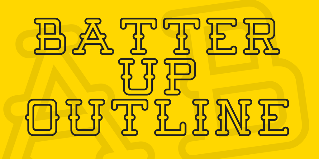 Batter Up Outline serif Windows font - free for Personal | Commercial