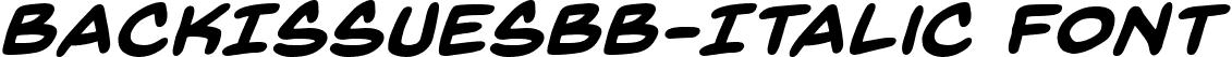 BackIssuesBB-Italic Font