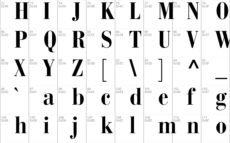 Bauer Bodoni Std 2 Windows font - free for Personal