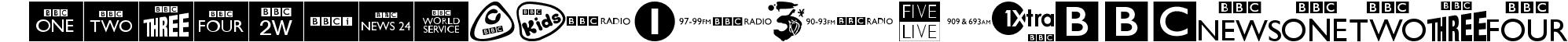 BBC TV Channel Logos