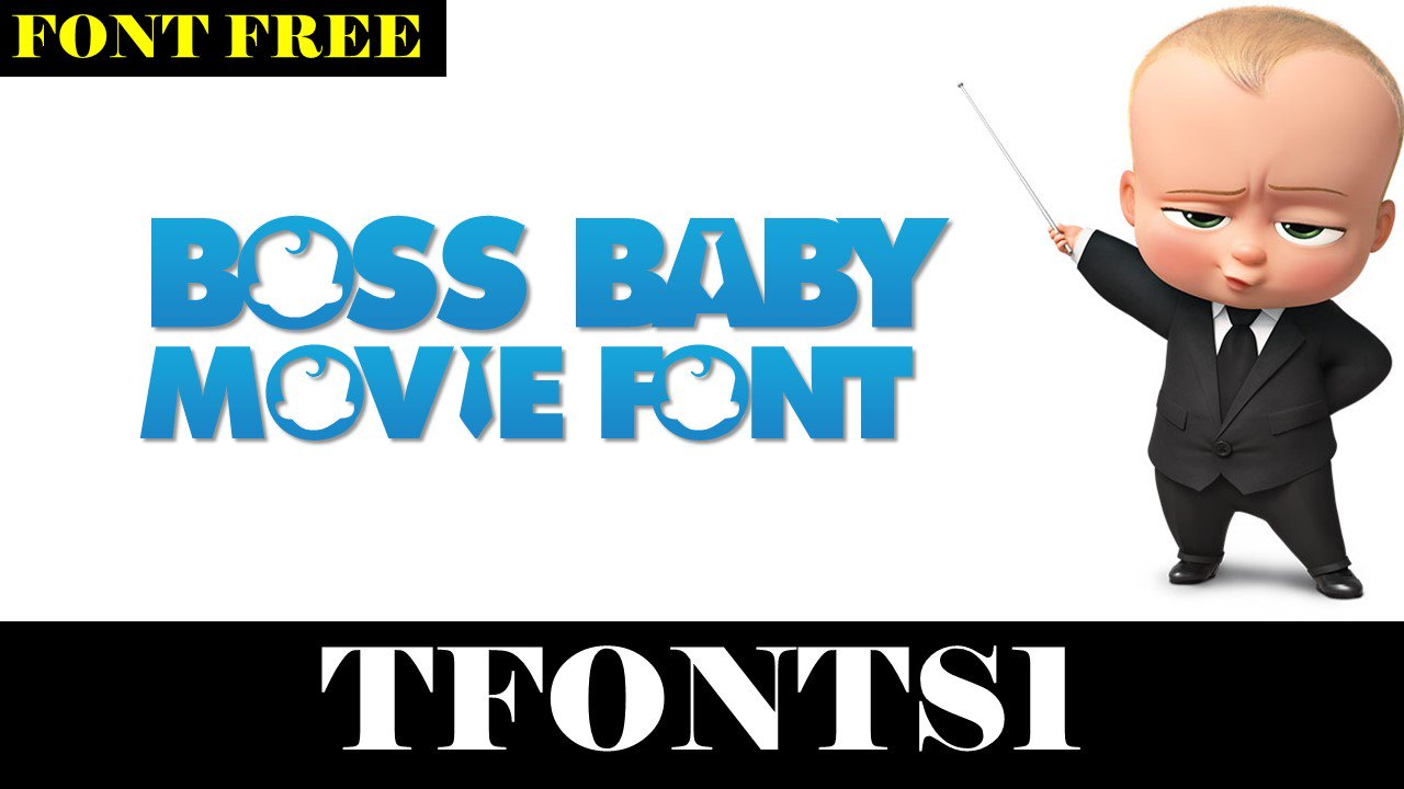 Boss Baby Windows font - free for Personal   Commercial