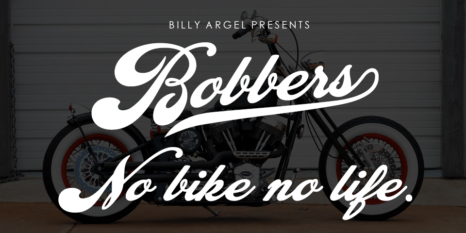 Bobbers font - free for Personal