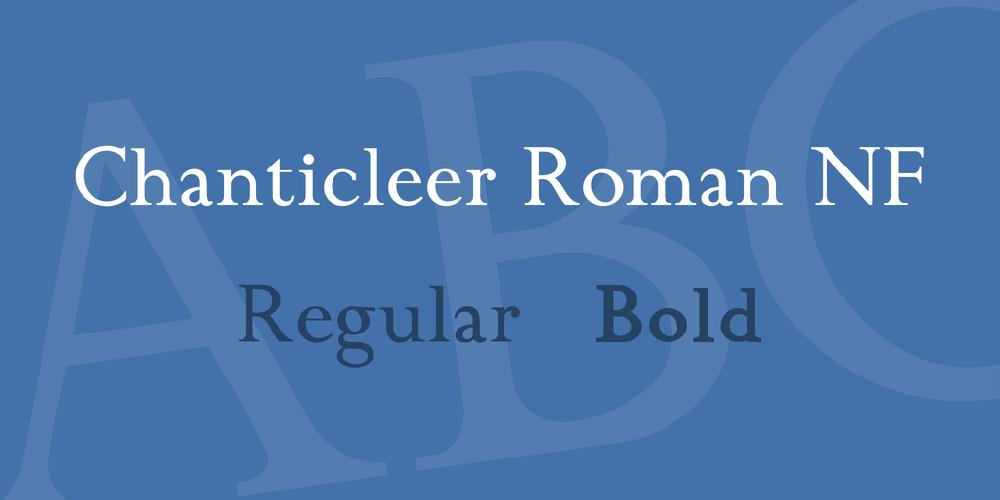 Chanticleer Roman NF