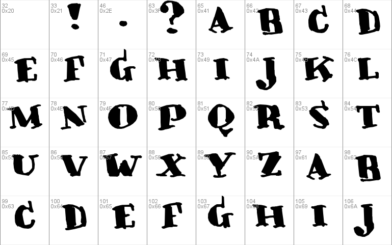 Crunky Font