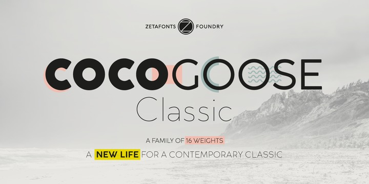 Cocogoose Classic Trial font - free for Personal