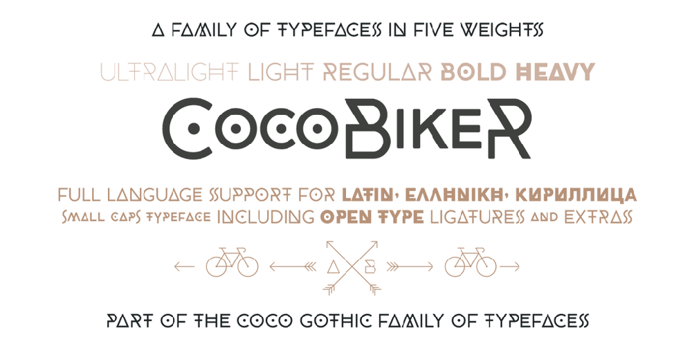 CocoBikeR font - free for Personal | Modification Allowed