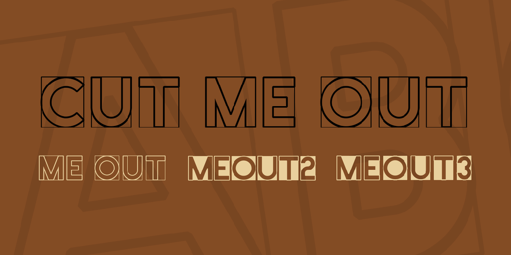 Cut Me Out