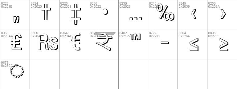 Charu Chandan 3D Unicode font - free for Personal