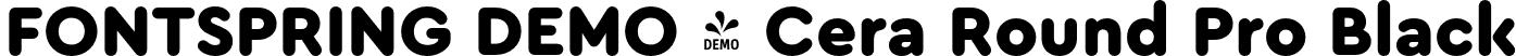 FONTSPRING DEMO - Cera Round Pro Black