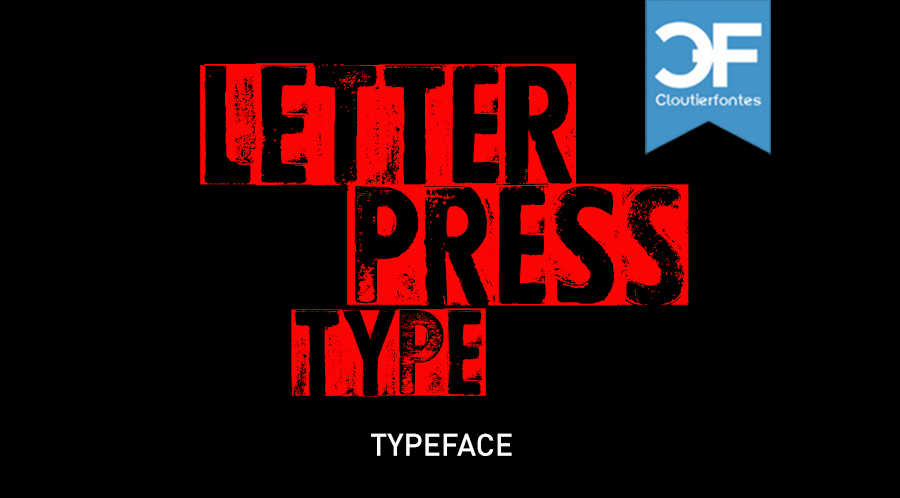 CF Letterpress Type font - free for Personal
