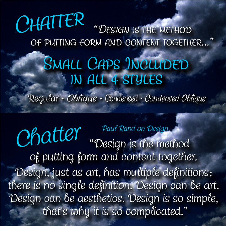 Chatter-Condensed