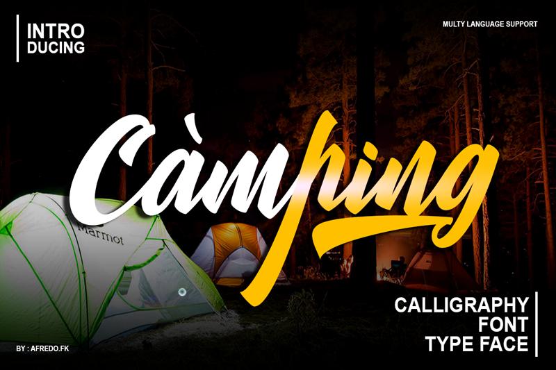 Camping italic deisng