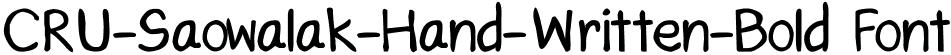CRU-Saowalak-Hand-Written-Bold Font