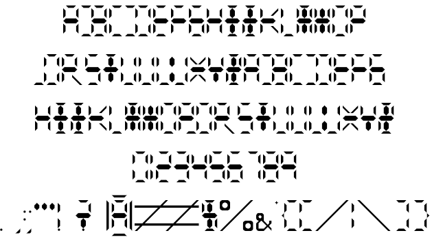 Calculator Digits Font Free For Personal