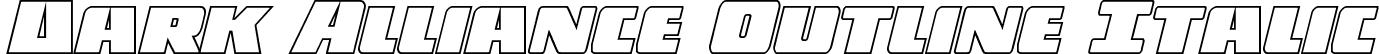 Dark Alliance Outline Italic