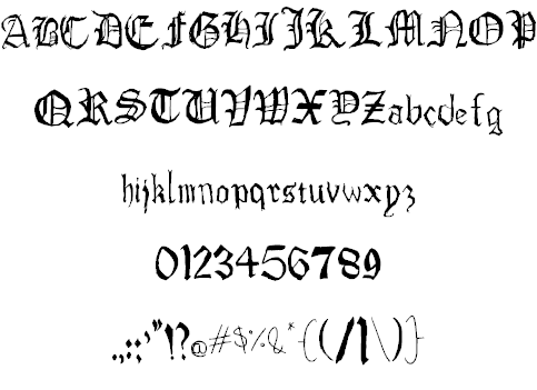 Drawn Old English font - free for Personal
