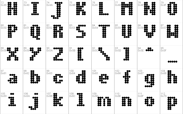Dot Matrix Font Free For Personal