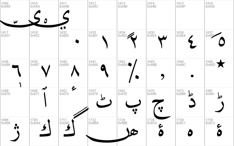 DecoType Naskh Extensions font - free for Personal