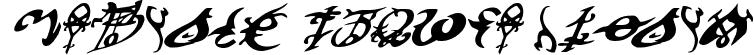 Devil's Tongue Italic