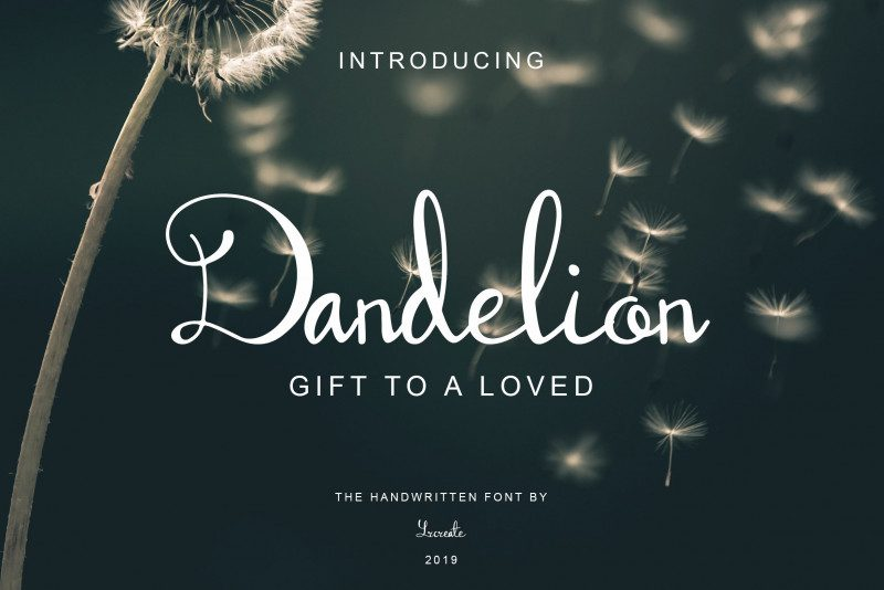 Dandelion wedding