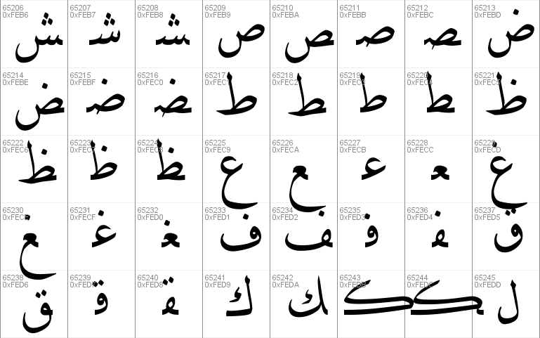 DecoType Naskh Variants font - free for Personal