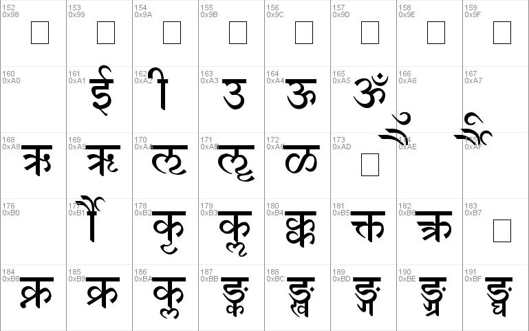 Devanagari font - free for Personal