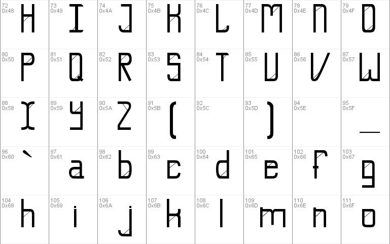 E-Slash Font