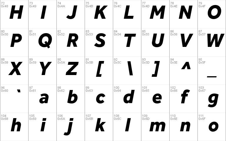 effra heavy font