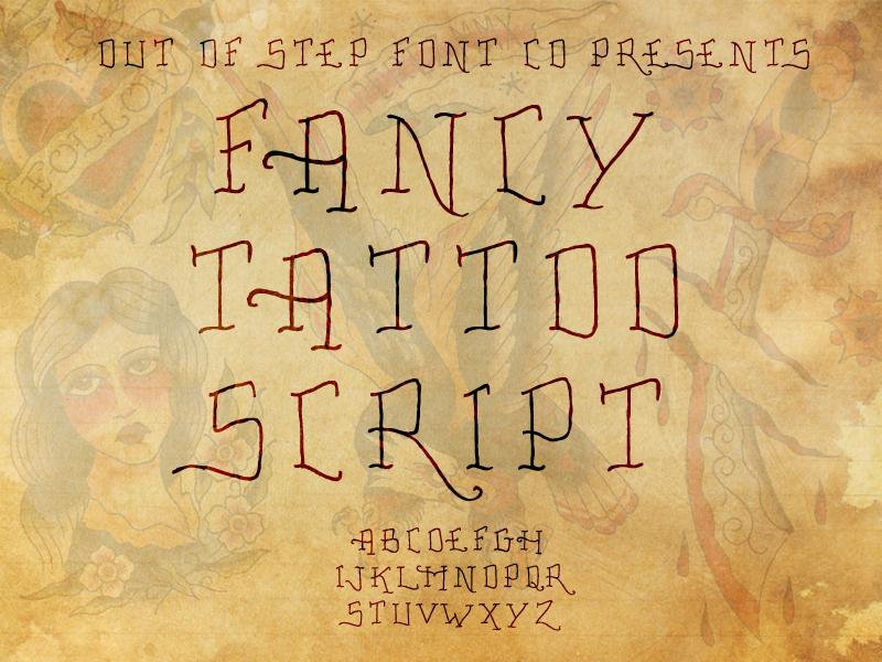 Fancy Tattoo Script
